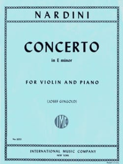 Concerto Violon mi mineur Gingold Pietro Nardini laflutedepan