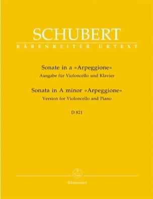 Sonate Arpeggione SCHUBERT Partition Violoncelle - laflutedepan