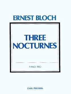 Trois Nocturnes BLOCH Partition Trios - laflutedepan