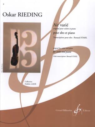 Air Varié - Alto et Piano Oskar Rieding Partition Alto - laflutedepan