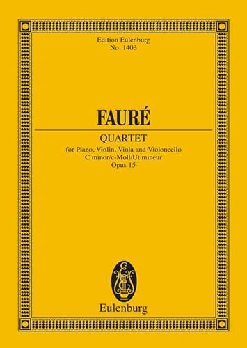 Klavier-Quartett N° 1 - Conducteur - FAURÉ - laflutedepan.com