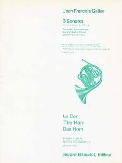 3 Sonates Jean-François Gallay Partition Duos - laflutedepan