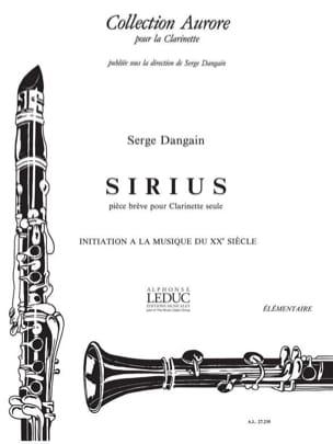Sirius Serge Dangain Partition Clarinette - laflutedepan