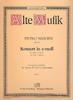 Konzert für Violine in e-moll Pietro Nardini Partition laflutedepan