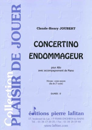 Concertino Endommageur Claude-Henry Joubert Partition laflutedepan