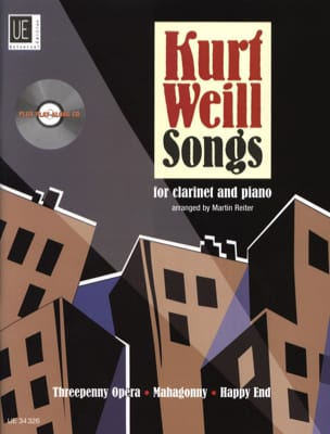 Kurt Weill Songs For Clarinet WEILL Partition laflutedepan