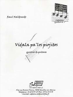 Vidala Pa'los Piojitos Raul Maldonado Partition Guitare - laflutedepan