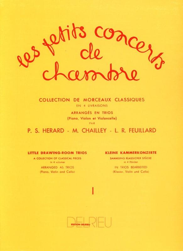Les Petits Concerts de Chambre Volume 1 - Trio - laflutedepan.com