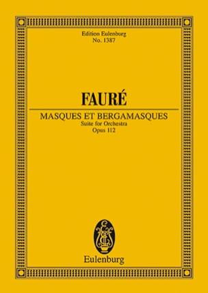 Masques et Bergamasques, op. 112 FAURÉ Partition laflutedepan