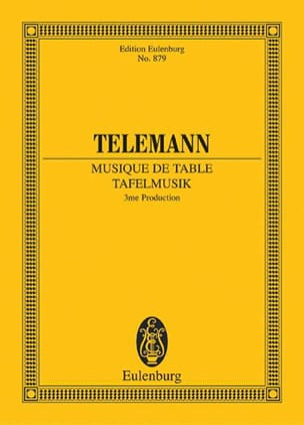 Tafelmusik TELEMANN Partition Petit format - laflutedepan
