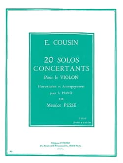 20 Solos concertants, Série 2 11 à 20 Emile Cousin laflutedepan