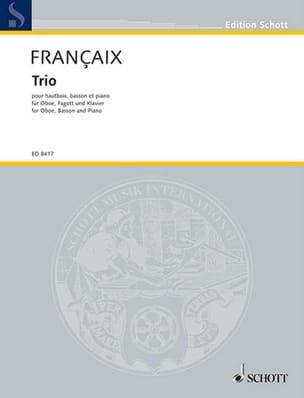 Trio 1994 -Hautbois, basson et piano FRANÇAIX Partition laflutedepan