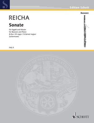 Sonate B-Dur op. posth - Fagott Klavier REICHA Partition laflutedepan