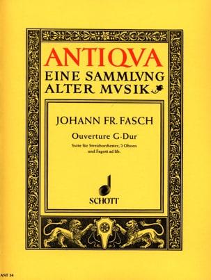 Ouverture G-Dur - Partitur - Johann Friedrich Fasch - laflutedepan.com