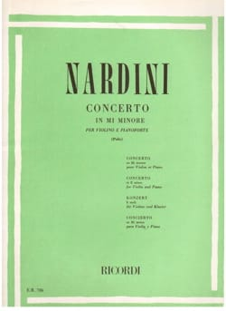 Concerto Violon mi mineur Pietro Nardini Partition laflutedepan