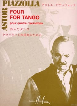 Four for Tango - 4 Clarinettes Astor Piazzolla Partition laflutedepan