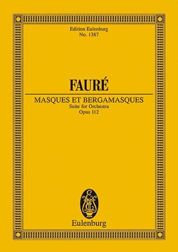 Masques et Bergamasques, op. 112 - FAURÉ - laflutedepan.com