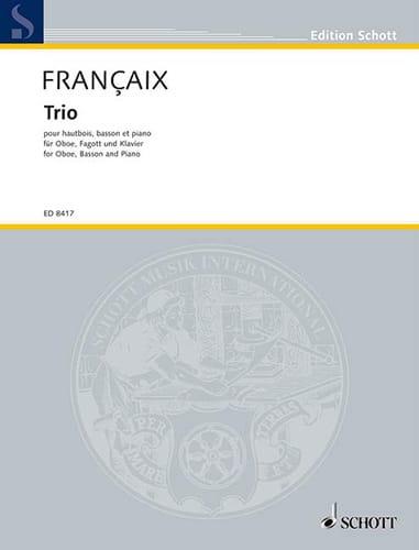 Trio 1994 -Hautbois, basson et piano - FRANÇAIX - laflutedepan.com