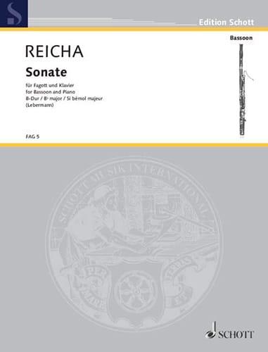 Sonate B-Dur op. posth - Fagott Klavier - REICHA - laflutedepan.com