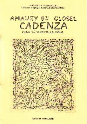 Cadenza - Amaury du Closel - Partition - laflutedepan.com
