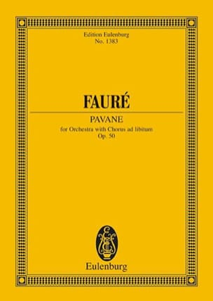 Pavane, op. 50 FAURÉ Partition Petit format - laflutedepan