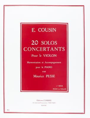 20 Solos Concertants - Série 1 1 à 10 Emile Cousin laflutedepan