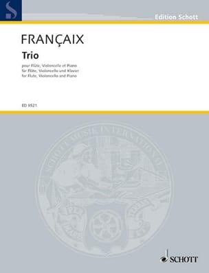 Trio 1995 - Flûte, cello piano FRANÇAIX Partition Trios - laflutedepan