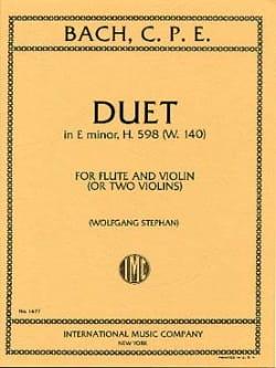 Duet in E minor H. 598 w. 140 - Flute Violin laflutedepan
