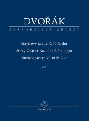 Quatuor à Cordes n° 10 - Conducteur DVORAK Partition laflutedepan