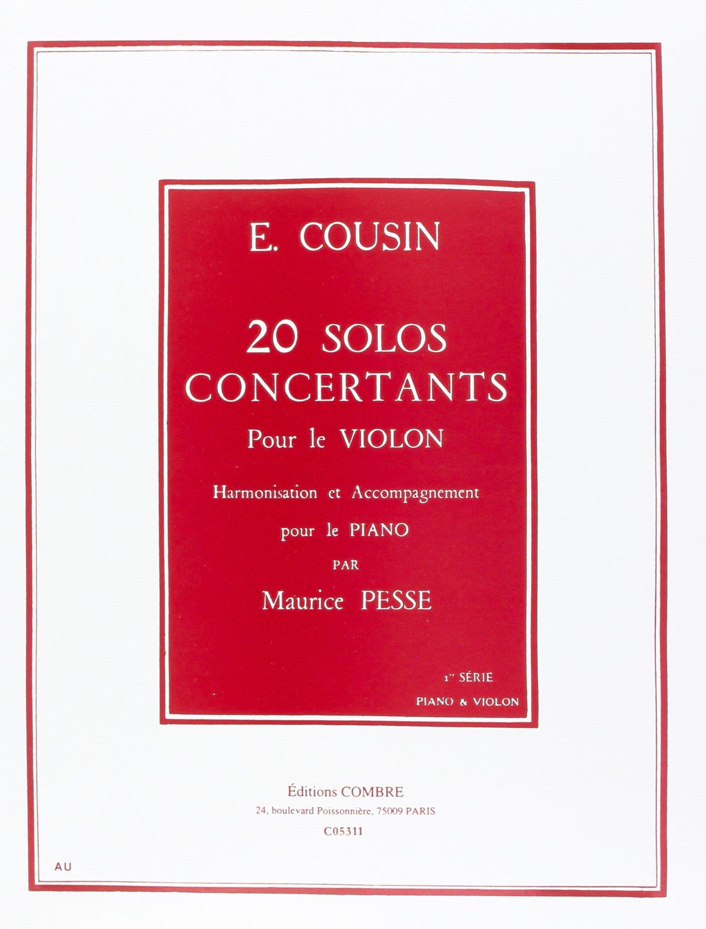 20 Solos Concertants - Série 1 1 à 10 - laflutedepan.com