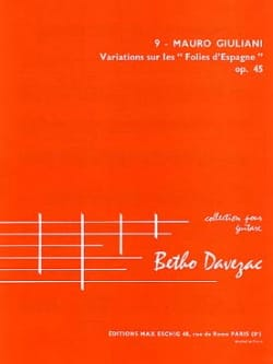 Variations sur les Folies d'Espagne op. 45 Mauro Giuliani laflutedepan