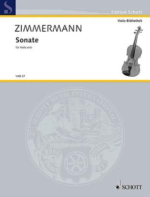 Sonate für Viola solo Bernd Alois Zimmermann Partition laflutedepan