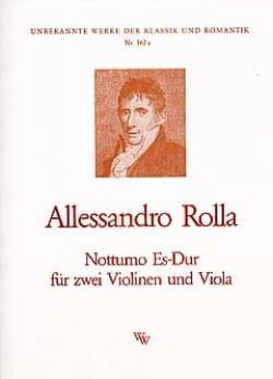 Notturno Es-Dur -2 Violinen Viola Alessandro Rolla laflutedepan