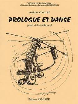 Prologue et danse Adrienne Clostre Partition laflutedepan