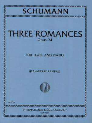3 Romances op. 94 - Flûte piano SCHUMANN Partition laflutedepan