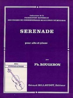 Sérénade Philippe Rougeron Partition Alto - laflutedepan