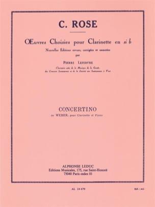 Concertino op. 26 -Clarinette Carl Maria von Weber laflutedepan