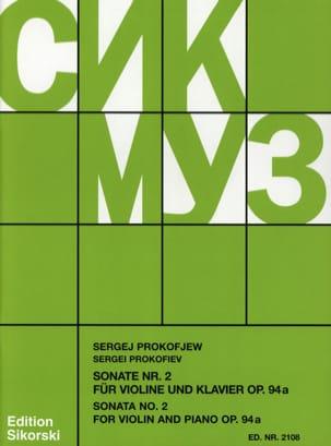 Sonate Nr. 2 op. 94a für Violine und Klavier PROKOFIEV laflutedepan