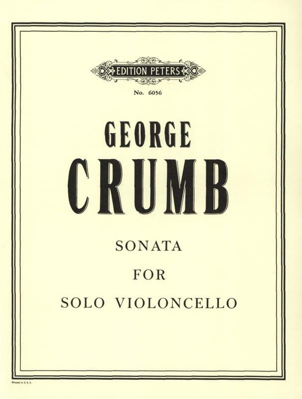 Sonata For Solo Violoncello - George Crumb - laflutedepan.com
