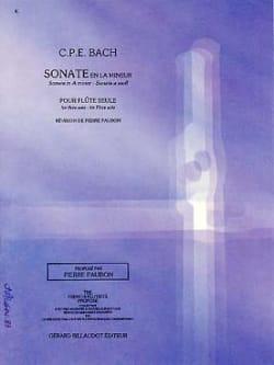 Sonate en la mineur Wq 132 - Flûte seule laflutedepan