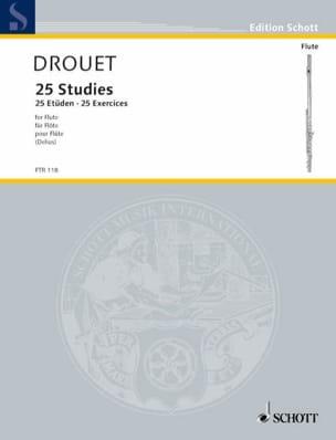 25 Etüden -Flöte Louis Drouet Partition laflutedepan