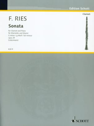 Sonate g-moll op. 29 Ferdinand Ries Partition laflutedepan
