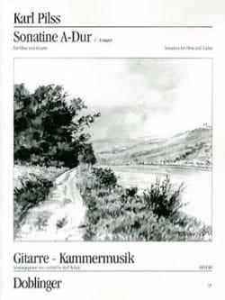 Sonatine A-Dur - Oboe u. Gitarre Karl Pilss Partition laflutedepan