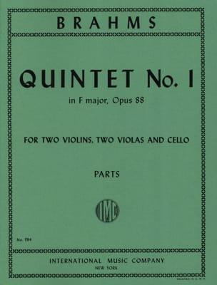 Quintet n° 1 in F major op. 88 -Parts BRAHMS Partition laflutedepan