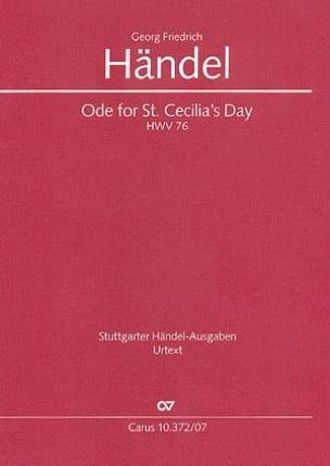 Ode for St. Cecilias Day HWV 76 - Poche - laflutedepan.com