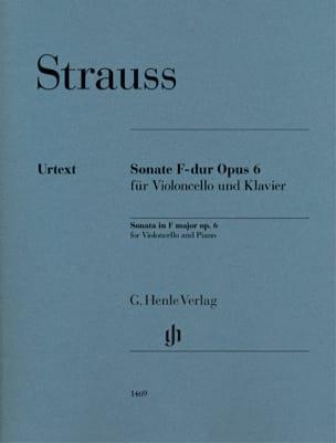 Sonate en Fa Majeur, opus 6 Richard Strauss Partition laflutedepan