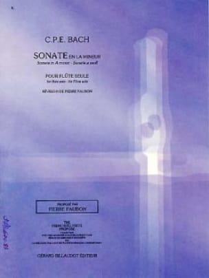 Sonate en la mineur Wq 132 - Flûte seule - laflutedepan.com