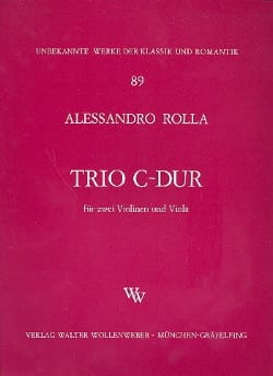 Trio C-Dur -2 Violinen Viola - Stimmen Alessandro Rolla laflutedepan