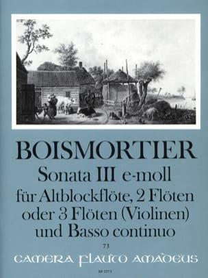 Sonata Nr. 3 e-moll -Altblockflöte 2 Flöten u. BC laflutedepan
