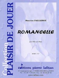 Romancelle Maurice Faillenot Partition laflutedepan